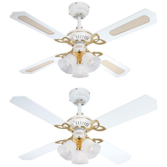 Westinghouse Princess 3 Light Ceiling Fan White Lyco