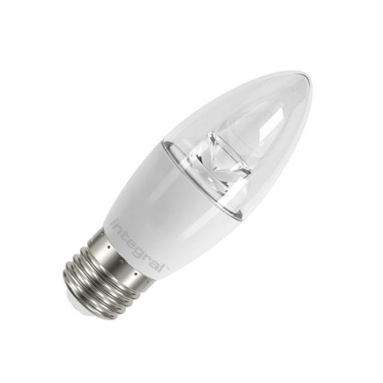Integral 5.9W Warm White LED Clear Candle Bulb - Screw Cap