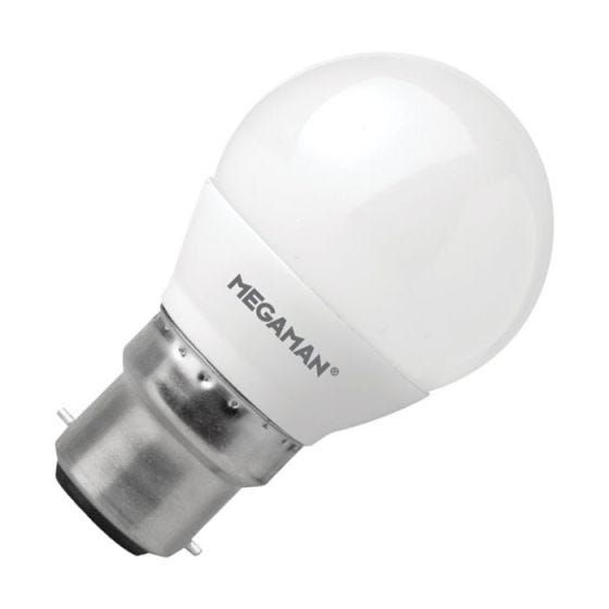 Megaman 3.5W Warm White LED Golf Ball Bulb - Bayonet Cap