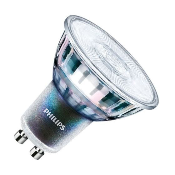 Philips ExpertColour 3.9W Warm White 2700k Dimmable LED GU10 Bulb - Flood Beam
