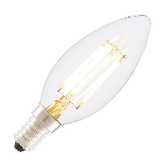 Tagra 4W Very Warm White Dimmable LED Decorative Filament Candle Bulb - Small Screw Cap