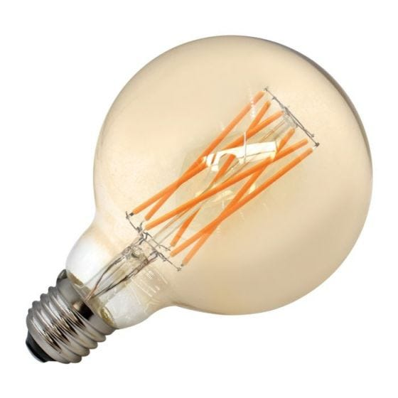 Tagra 6W Very Warm White Dimmable LED Decorative Filament 95mm Globe Bulb - Screw Cap