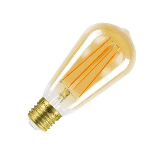 Integral Sunset Vintage 5W Ultra Warm White Dimmable LED Decorative Filament Squirrel Cage Bulb - Screw Cap