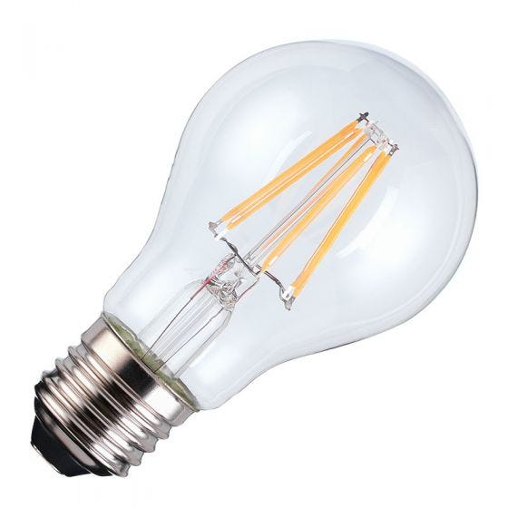 TCP Smart Warm White Dimmable LED Decorative Filament WiFi GLS Bulb - Screw Cap