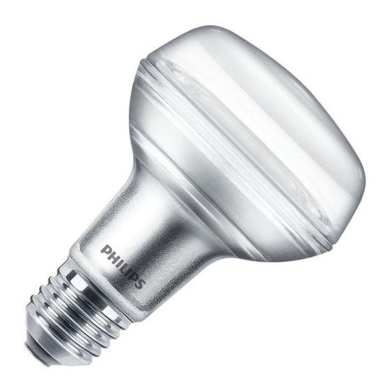 Philips Corepro 8W Warm White LED R80 Reflector Bulb - Screw Cap - Flood Beam
