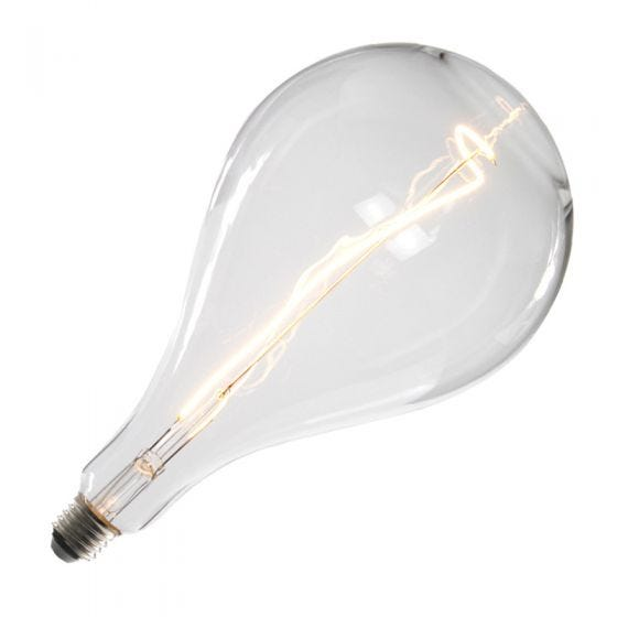 Tagra LED Large Clear Pear Globe Ceiling Pendant Light - Gun Metal