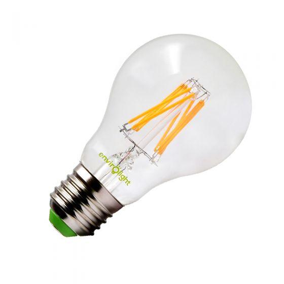 Envirolight 8W Warm White LED Decorative Filament GLS Bulb - Screw Cap