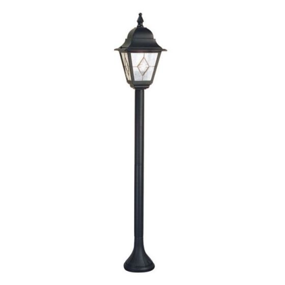 Elstead Norfolk Outdoor Lantern Post Light - Black