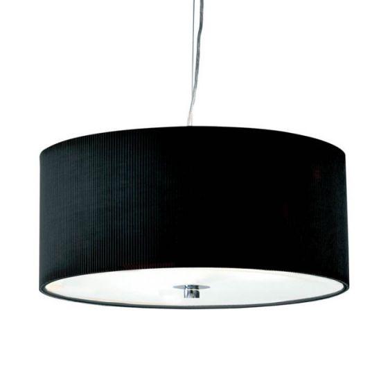 Dar Zaragoza 3 Light Ceiling Pendant Light - 400mm Black