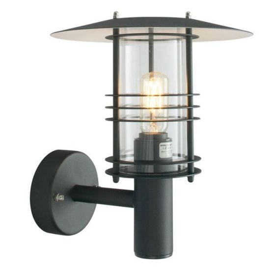 Norlys Stockholm Outdoor Wall Light - Black