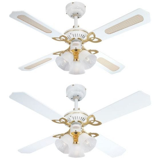 Westinghouse Princess 3 Light Ceiling Fan - White