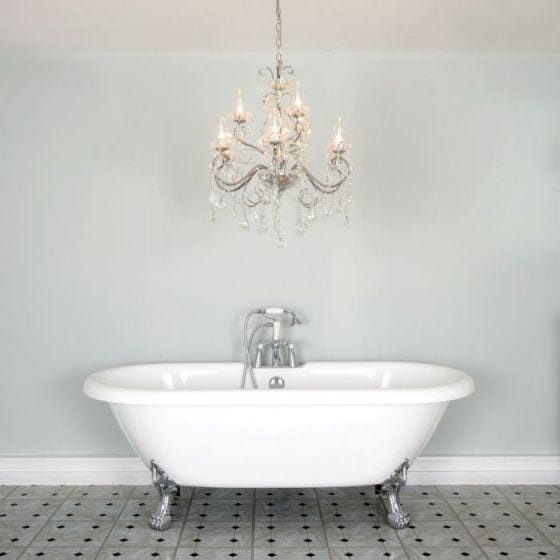 Forum Lighting Vela 5 Light Semi Flush Bathroom Chandelier