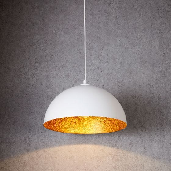 Edit Rondure Ceiling Pendant Light - 350mm White and Copper