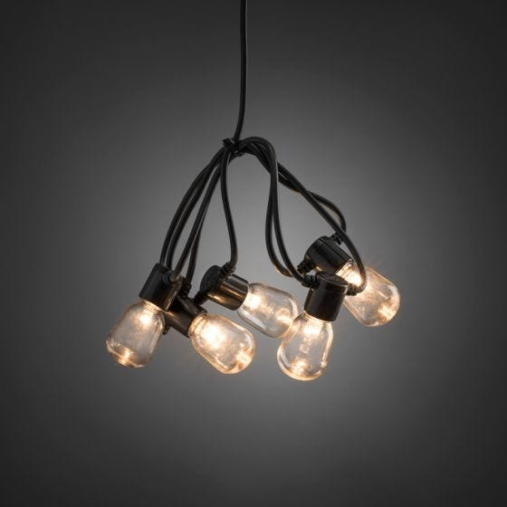 Konstsmide 14.75M LED Clear Oval Festoon Lights - 20 Lights