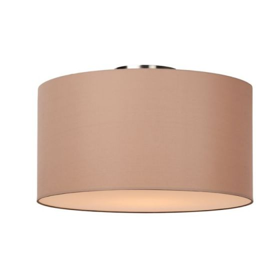 Lucide Coral Large Flush Ceiling Light - Taupe