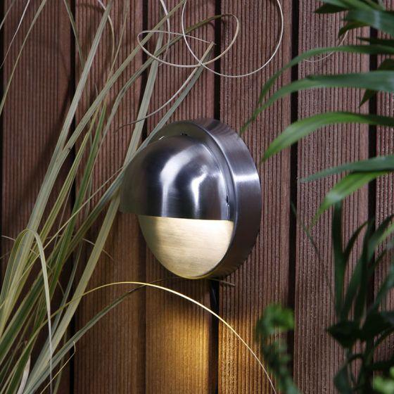 Techmar Plug and Play - Palm Warm White LED Outdoor Wall Light