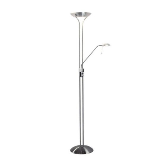 Dar Montana Floor Lamp - Satin Chrome