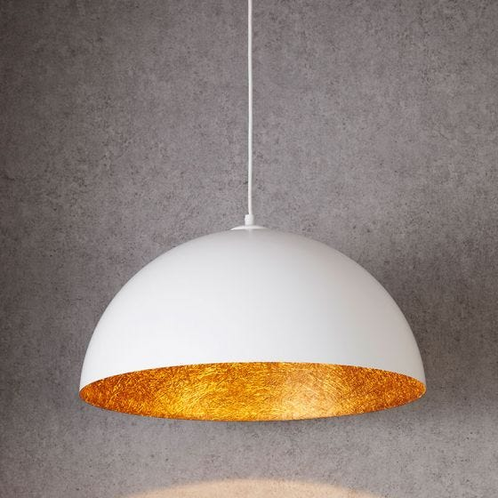 Edit Rondure Ceiling Pendant Light - 500mm White and Copper