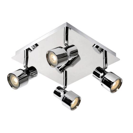 Lucide Sirene 4 Light LED Spotlight Plate - Polished Chrome