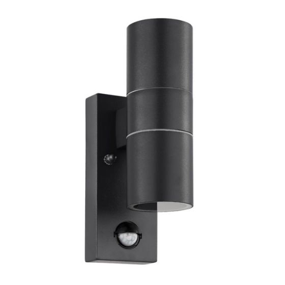 Eglo Riga LED Outdoor Up & Down Wall Light with PIR Sensor - Anthracite