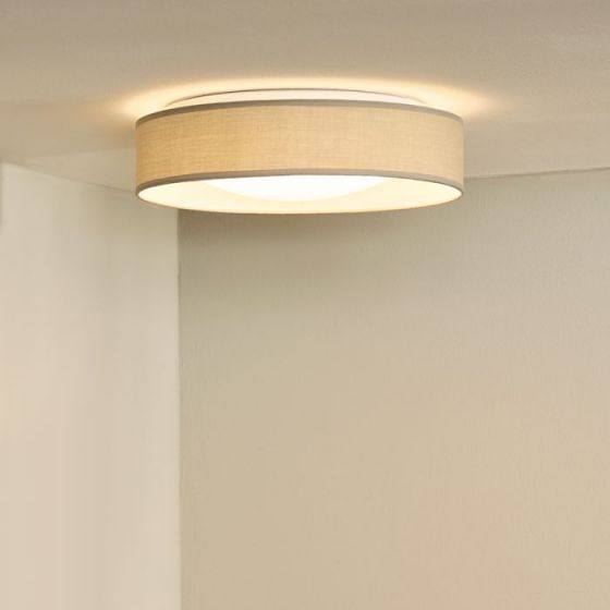Lucide Cham Flush Ceiling Light - Grey