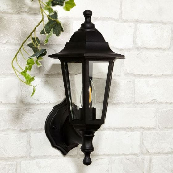 Searchlight Morgan Coach Lantern Outdoor Wall Light - Black