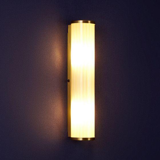 Edit Casa Glass Wall Light - Antique Brass