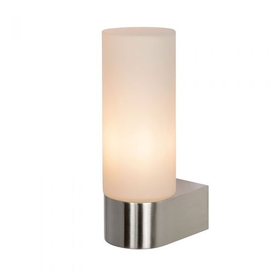 Lucide Jesse Glass Wall Light - Satin Chrome