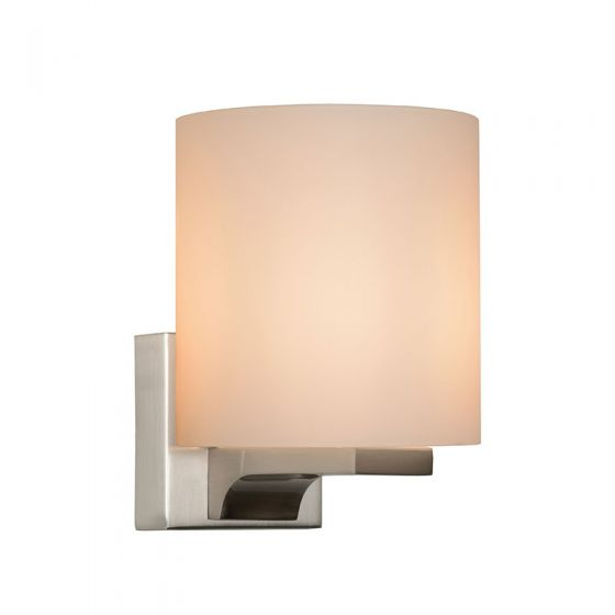 Lucide Jenno Glass Wall Light - Satin Chrome