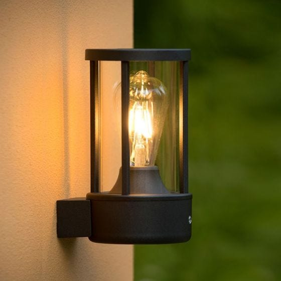 Lucide Lori Outdoor Wall Light with Dusk to Dawn Sensor - Dark Anthracite