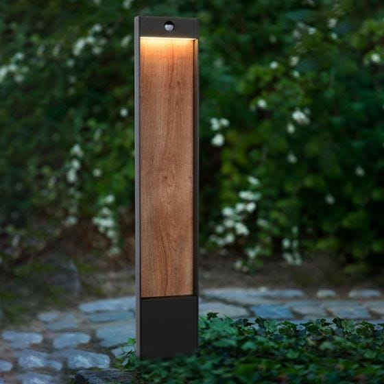 Lucide Jellum LED Outdoor Post Light with PIR Sensor - Anthracite