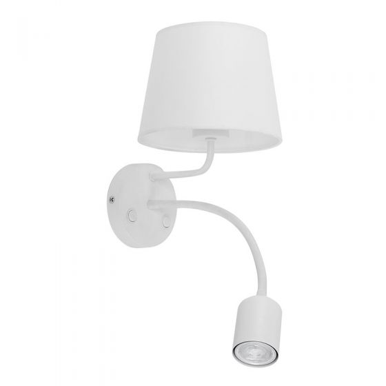 Edit Maja Wall Light with LED Reading Light - White