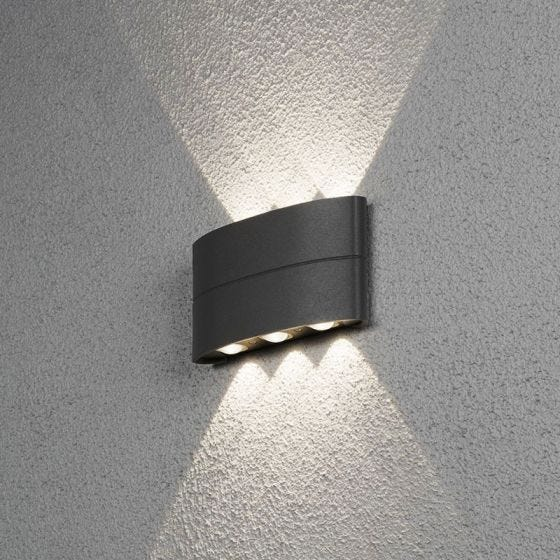 Stream Outdoor LED Up & Down Wall Light - Anthracite