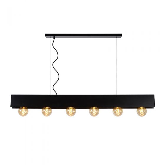 Lucide Surtus 6 Light Bar Ceiling Pendant - Black