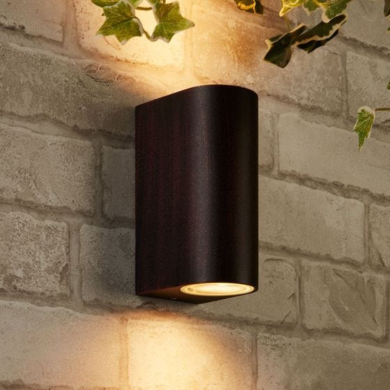 Edit Chile Outdoor Up & Down Wall Light - Antique Brown