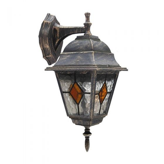 Edit Carlo Outdoor Hanging Lantern Wall Light - Antique Gold