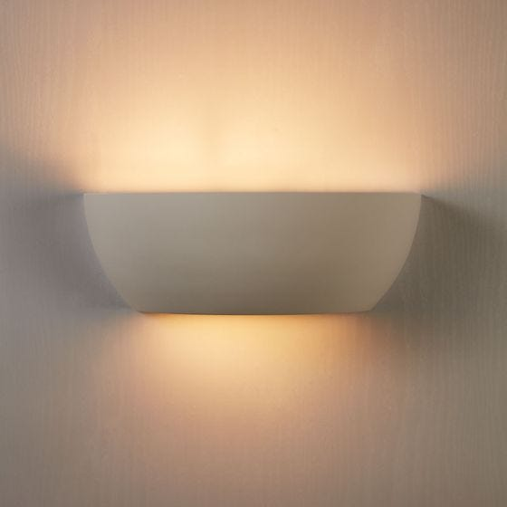 Edit Mathis Plaster Up & Down Wall Light - White