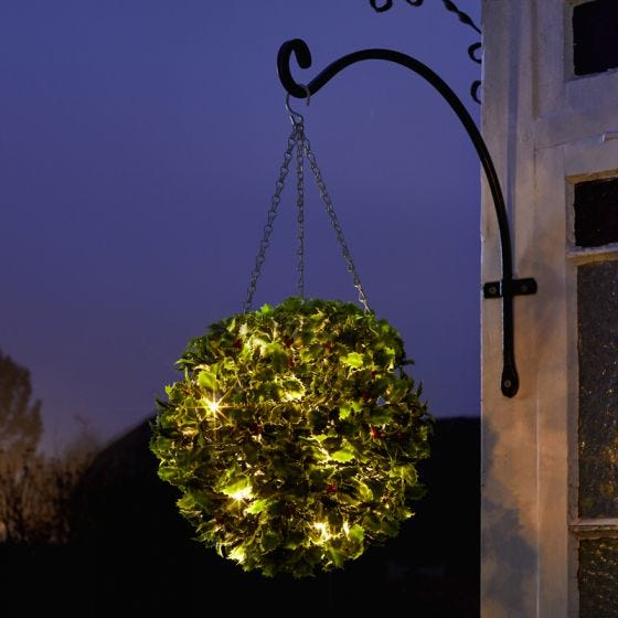 Edit Holly Battery Operated LED Hanging Decoration