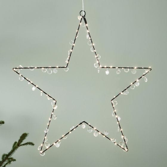 Edit Evie Beaded Multi-Function LED Hanging Star Decoration