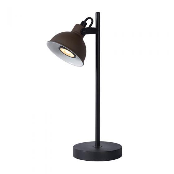 Lucide Damion Desk Lamp - Rust Brown