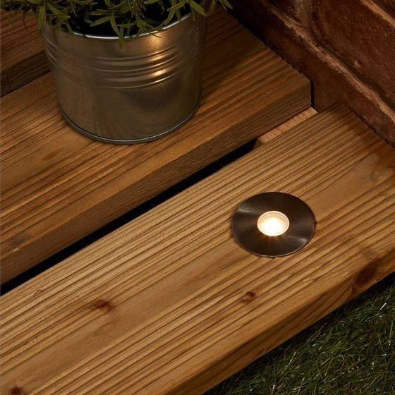 EasyFit 12v Garden Lights - Stowe LED Ground Light - Stainless Steel