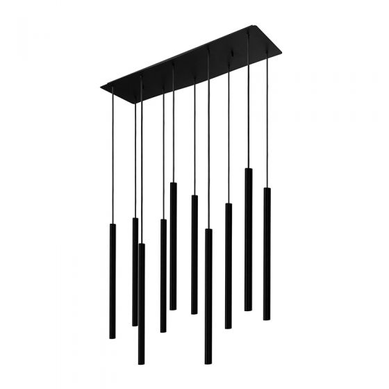 Edit Laser 10 Light Bar Ceiling Pendant - Black