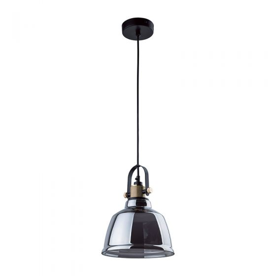 Edit Task Glass Ceiling Pendant Light - Smoked