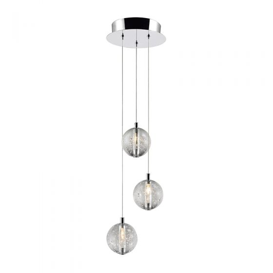 Edit Air 3 Light LED Cascade Ceiling Pendant - Chrome