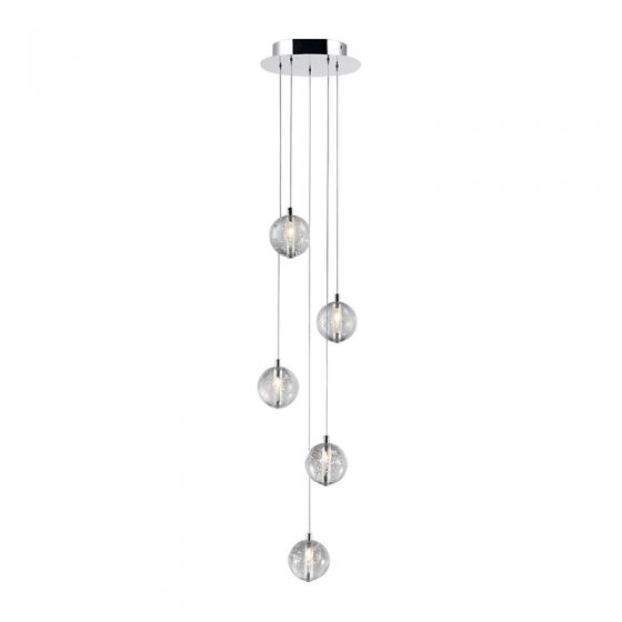 Edit Air 5 Light LED Cascade Ceiling Pendant - Chrome