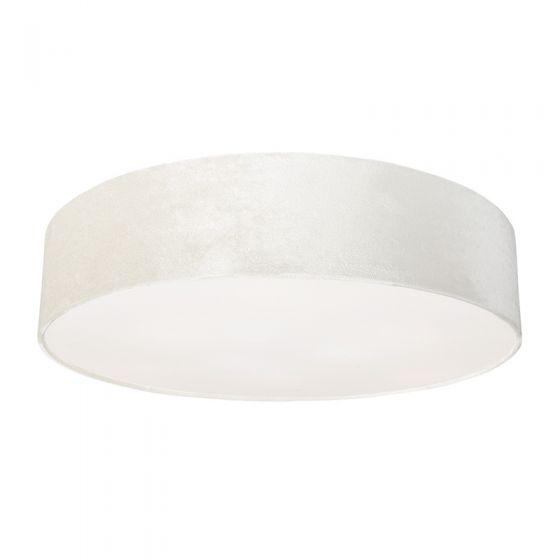 Edit Laguna Velvet Flush Ceiling Light - Oyster
