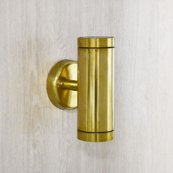 Edit Coastal Sail Outdoor Up & Down Wall Light - Brass