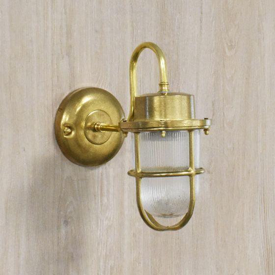 Edit Coastal Hook Outdoor Wall Light - Brass