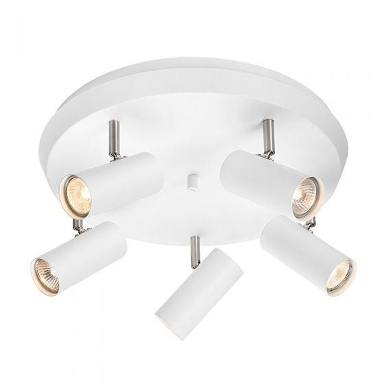 Torino 5 Light Spotlight Plate - White