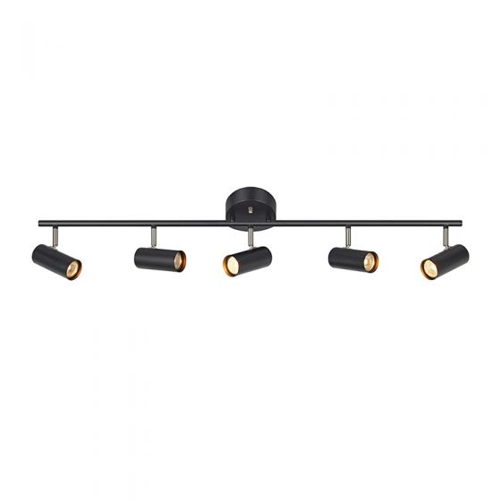 Barcelona 5 Light Spotlight Bar - Black
